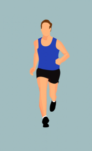 Behajúci muž pri tréningu